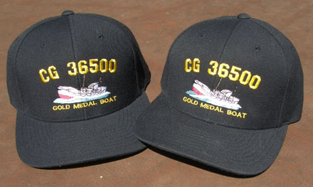 0f2227c2889 (cap) Coast Guard CG-36500 by Orleans Historical Society. 6-Panel 80 20  Acrylic wool cap with back Velcro size adjustment. 5 color on dark navy blue .